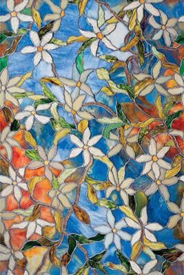 Artscape Clematis Window Film 24 in. W x 36 in. L