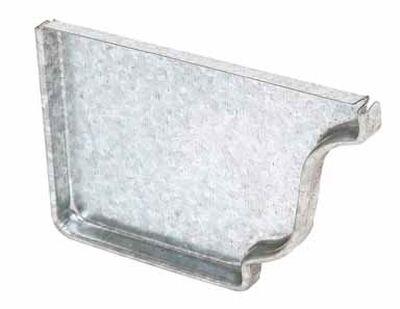 Amerimax 5 L x 8.4 in. W x 5 in. H K Slip Left End Cap Metallic Galvanized Steel