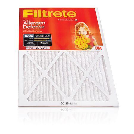 3M Filtrete 20 in. W x 25 in. L x 1 in. D Air Filter