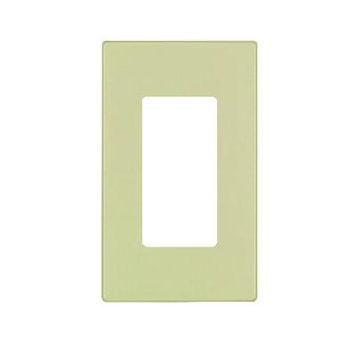 Leviton 1 gang Ivory Thermoset Plastic Rocker/GFCI Wall Plate 1 pk