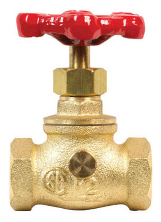 Mueller 1/2 in. x 1/2 in. Stop Valve Threaded Brass