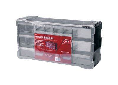 Ace Storage Organizer 9-1/2 in. H x 19-1/2 in. W x 6-1/4 in. L Gray