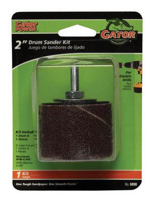 Gator Grit 2 in. Dia. x 0.3 in. Dia. 50 Grit Drum Sanders Kit Aluminum Oxide