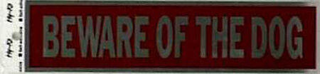 Hy-Ko English 2 in. H x 8 in. W Aluminum Sign Beware of Dog