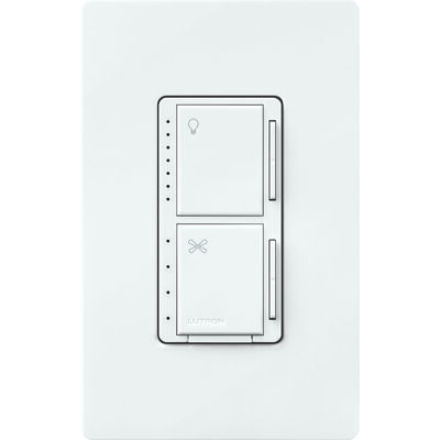 LUTRON MAISTRO 1.5 amps 250 watts Fan Control and LED Dimmer Switch White
