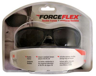 3M Tekk Multi-Purpose Safety Glasses Gray Lens Black Frame Clamshell
