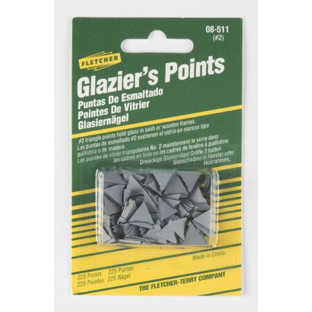 Fletcher No. 2 Glazier Points 225 pk