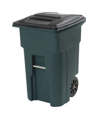 Toter 32 gal. Plastic Garbage Can