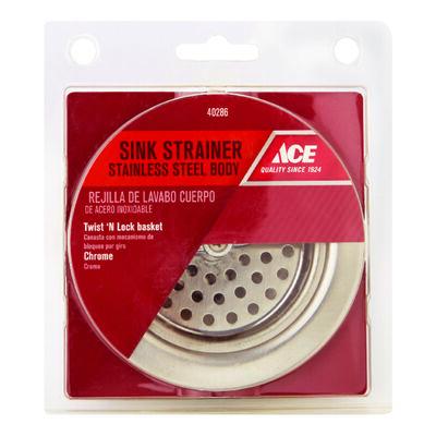 Ace Basket Strainer Assembly Chrome