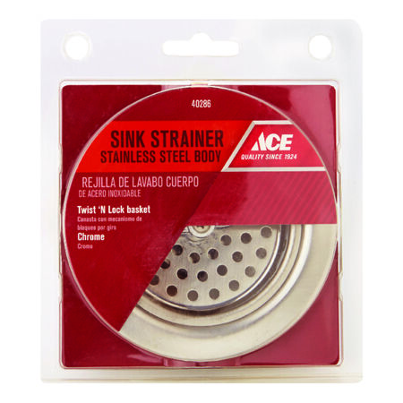 Ace Basket Strainer Assembly Chrome