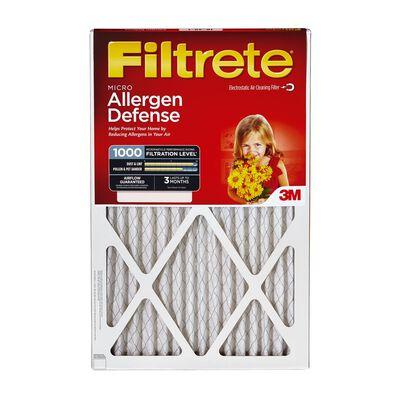 3M Filtete 24 in. L x 12 in. W x 1 in. D Fiberglass Air Filter 11 MERV