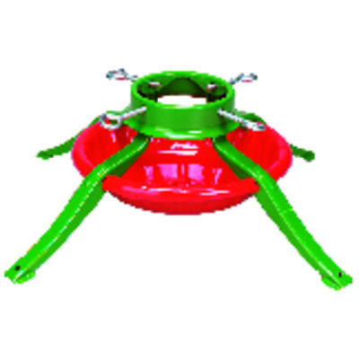 Jack-Post Metal Christmas Tree Stand Red and Green 8 ft. Maximum Tree Height
