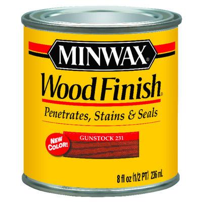 Minwax Wood Finish Transparent Oil Based Wood Stain Gunstock 1/2 pt.