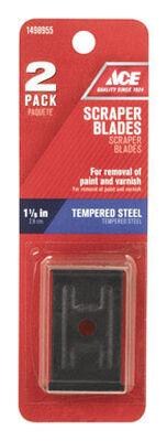 Ace Tempered Steel 1-1/8 in. W Scraper Blade
