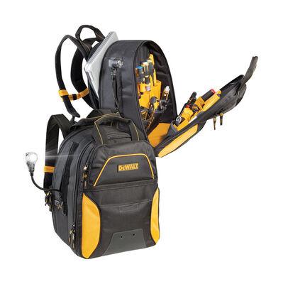 Dewalt Ballistic Polyester Backpack Tool Bag 21-1/2 in. L 31 inside pockets 2 outside pockets
