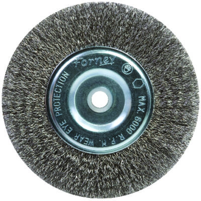 Forney 6 in. Dia. Fine Crimped 5/8 in. Wire Wheel Brush 6000 rpm