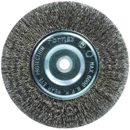 Forney 6 in. Dia. Fine Crimped 5/8 in. Wire Wheel Brush 6000 rpm
