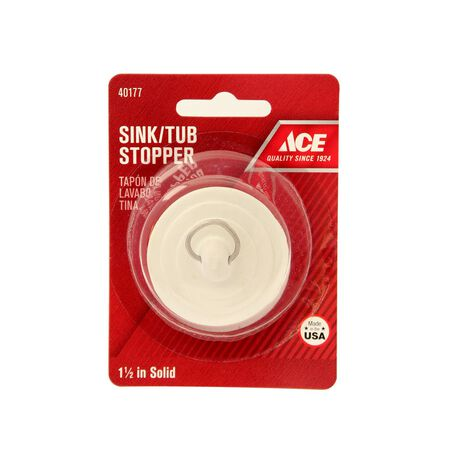 Ace 1-1/2 in. Dia. Drain Stopper Rubber Nickel Plated
