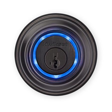 Kwikset Single Cylinder Deadbolt Metal Electronic Bluetooth Venetian Bronze 2 Grade Right Hande