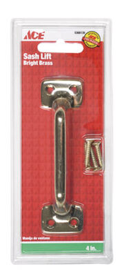 Ace 4 in. L Universal Sash Bright Brass Brass 1