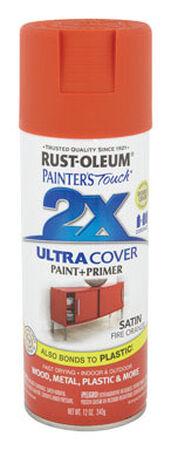 Rust-Oleum Painter's Touch Ultra Cover Fire Orange Satin 2x Enamel Spray 12 oz.