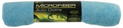Peak 12 in. L x 16 in. W Microfiber Auto Cleaning Cloth 3 pk