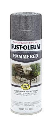 Rust-Oleum Stops Rust Gray Gloss Hammered Spray 12 oz.