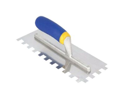 QEP Stainless Steel Square Notch Trowel