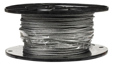 Campbell Chain Galvanized Steel Aircraft Cable 3/32 in. Dia. x 500 ft. L
