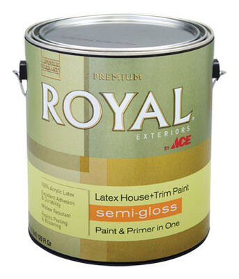 Ace Royal Acrylic Latex House & Trim Paint & Primer Semi-Gloss 1 gal.
