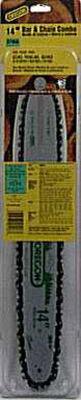 Oregon Bar and Chain Combo 52 links 14 in. For Craftsman Echo Homelite Shindaiwa