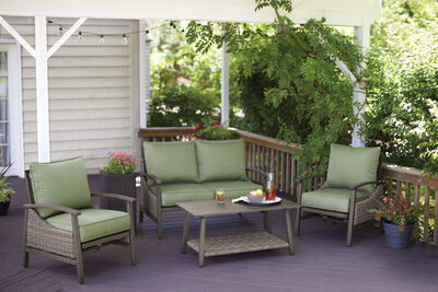 Living Accents 4 pc. Soho Deep Seating Patio Set Green