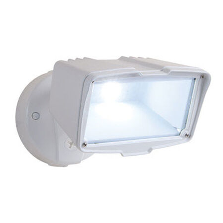All-Pro White Outdoor Security Light Aluminum LED 120 volts 28 watts
