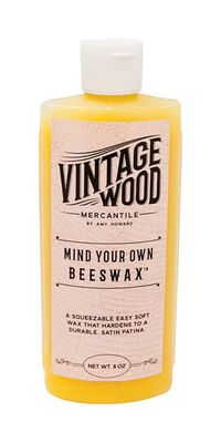 Amy Howard at Home Vintage Wood Mercantile Mind Your Own Beeswax Wax White 8 oz.