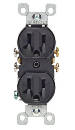 Leviton Electrical Receptacle 15 amps 5-15R 125 volts Black