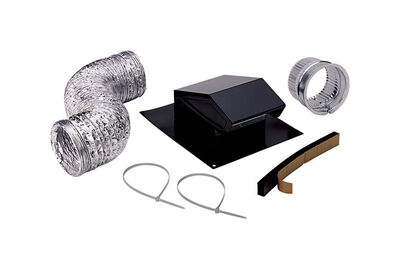 Broan Black Steel Roof Vent Kit