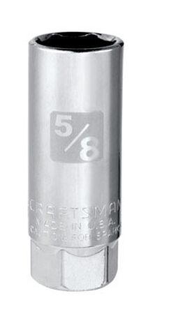Craftsman Chrome Spark Plug Socket 3/8 in. Drive in. drive