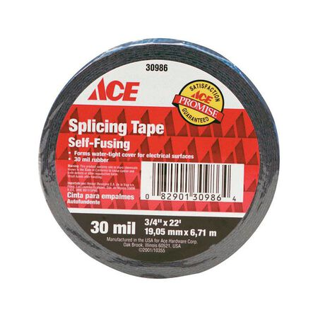 Ace 3/4 in. W x 22 ft. L Rubber Splicing Tape Black