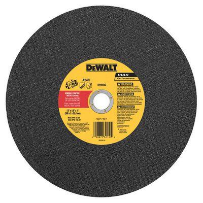 "12"" x 1/8"" x 1"" Metal Portable Saw Cut-Off Wheel"