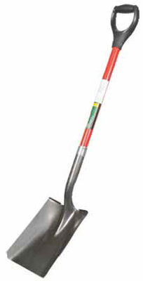 Ace 29 in. L Steel D-Handle Square Point Shovel Fiberglass