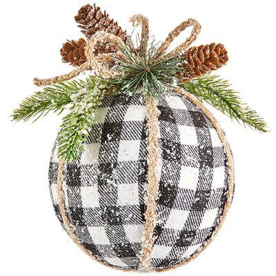"7"" Checked Ball Ornament"