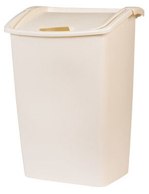 Rubbermaid 45 Bisque Swing-Out Wastebasket
