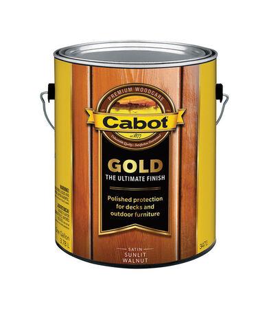 Cabot Gold Outdoor Transparent Deck Varnish Satin 1 gal. Sunlit Walnut