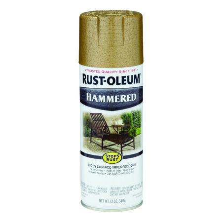 Rust-Oleum Stops Rust Hammered Gold Spray Paint 12 oz.