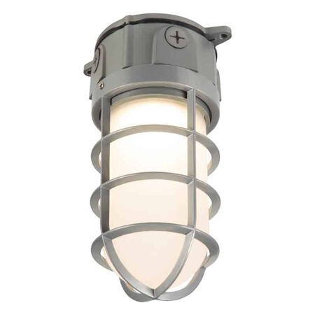 Lumark Vaportight Switch Hardwired LED Gray Area Light