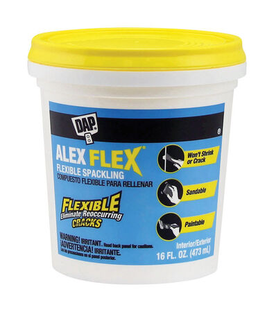 DAP Alex Flex Ready to Use White Spackling Compound 16 oz.