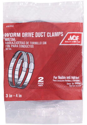 Ace 3 in. to 4 in. Metal Worm Drive Clamp
