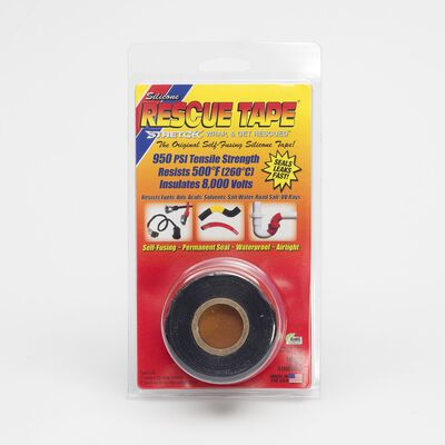 Rescue Tape 1 in. W x 12 ft. L Silicone Tape Black
