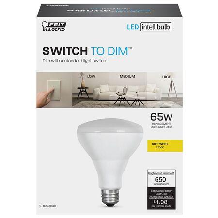 FEIT Electric Intellibulb 9.5 watts 650 lumens 2700 K Soft White 65 watts equivalency LED Dimmabl