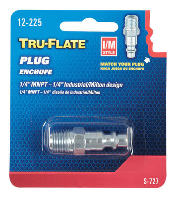 Tru-Flate Steel Air Plug 1/4 in. MNPT Male I/M